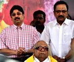 DMK demonstration against land acquisition bill