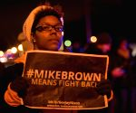 Chicago (United States): Protest against the grand jury's decision not to charge police officer Darren Wilson in the fatal shooting