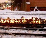 U.S. CHICAGO EXTREME COLD TRAIN TRACK FIRE