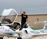U.S. CHICAGO CHINESE MAN AROUND THE WORLD FLIGHT FINISH