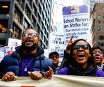 U.S. CHICAGO TEACHERS STRIKE RALLY