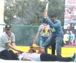 Shifuji Shaurya Bharadwaj demonstrate an unarmed combat