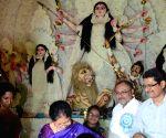 Manjula Chellur inaugurates Hazra Milan Chakra Puja