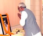 Chief Minister Nitish Kumar pays tributes to the great litterateur Phanishwar Nath Renu on his 100th birthday, at his official residence in Patna on Thursday 04th March, 2021.