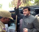 Chief of MIM party Asaduddin Owaisi appearing in Sangareddy court