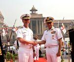 US Navy Chief Admiral John Richardson meets Admiral Sunil Lanba
