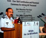 Retiring IAF personnel get skill development certificates