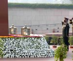 Chiefs of Armed Forces pay tributes to the fallen soldiers at National War Memorial on Navy Day