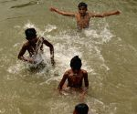Children beat the heat