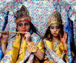 Children participate in 'Shobha Yatra