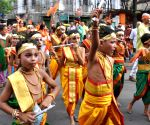 Eve of Janmashtami - Children participate in a rally