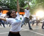Children's equality flash mob trained by Shiamak Davar academy performing at Jantar Mantar