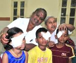 Children injured while bursting crackers