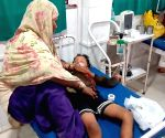 Children with encephalitis symptoms being treated at hospital