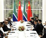 RUSSIA UFA CHINA XI JINPING JACOB ZUMA MEETING