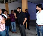 Chiranjeevi watches Supreme movie with Sai Dharam Tej