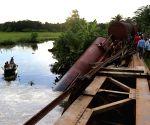 Train fell off a bridge