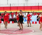 Inmates take part in the second folkloric dance contest