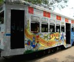 Art exhibition on tram cars