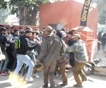 Students clash with stranded Kashmiri passengers in Jammu