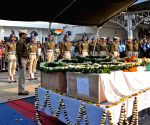 Pulwama militant attack - martyrs bodies arrive at airport