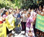 SRI LANKA COLOMBO PROTEST FORMER PRESIDENT BRIBERY