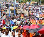 SRI LANKA COLOMBO EX PRESIDENT SUPPORTERS RALLY