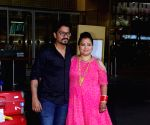 Bharti Singh, Haarsh Limbachiyaa seen at Mumbai Airport