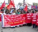 CPI-M demonstration against hike in prices of essential commodities