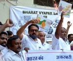 Hyderabad : Confederation of All India Traders (CAIT) Protest Rally against Anti-Trader Policies