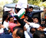 Congress activists protesting outside West Bengal Assembly detained