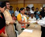 Mala Roy files nomination papers