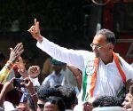 Karnataka Assembly elections - Congress' Dinesh Gundu Rao celebrates