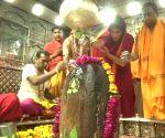 Priyanka Gandhi visits Mahakaleshwar Jyotirlinga temple in Madhya Pradesh