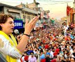 Pathankot (Punjab): Priyanka Gandhi Vadra's roadshow
