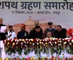 Gehlot sworn in as Rajasthan CM, Pilot Deputy CM