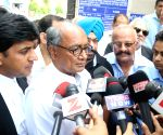 Digvijay Singh talks to press