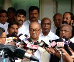 Digvijaya Singh talks to press