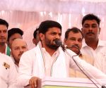 Hardik Patel at a public rally in Madhya Pradesh