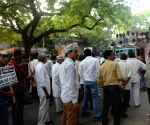 Congress demonstration against Katju