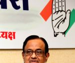 P Chidambaram during a press conference