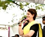 Priyanka interacts with people during election campaign