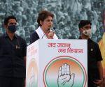 Will stand with farmers till my last breath: Priyanka