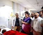 Priyanka Gandhi Vadra visits the victims Sonbhadra clash at BHU Trauma Centre