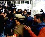 Delhi Polls 2020 - Rahul Gandhi arrives to cast vote