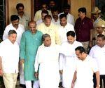 HD Kumaraswamy, Siddaramaiah meet Karnataka Speaker