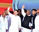 Rahul Gandhi at Congress rally