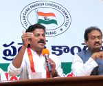 Revanth Reddy, Mohammed Ali Shabbir during a press conference