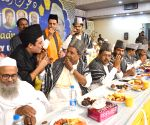 Siddaramaiah, G Parameshwar during an iftaar party