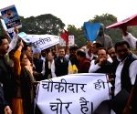 Congress demonstration at Parliament